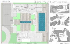Mediterranean Floor Plans With Courtyard by Cool House Plans With Courtyard Garage Entrance Pictures Ideas