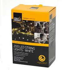 Battery Operated Light Strings by Cole And Bright Battery Operated 200 Led String Lights White