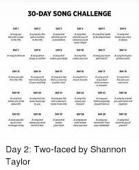 Challenge O Que ã 30 Day Song Challenge Day 4 Day 1 Day Day 3 Days Day 6 A Song You