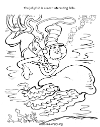 free coloring pages fish cat in the hat coloring home