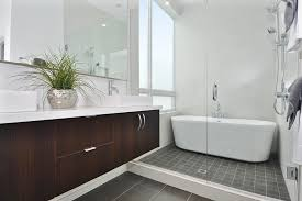 Seattle Bathroom Vanity by Seattle Small Freestanding Tub Bathroom Contemporary With Vessel