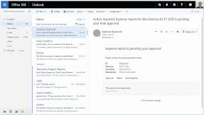 What Is An Expense Report by Microsoft Office Actionable Messages For Outlook
