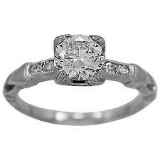 barth company art deco 65 carat diamond gold engagement ring at