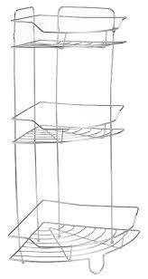 Bathroom Chrome Shelving by Chrome 3 Tier Corner Bathroom Shower Shelf Caddy Basket Tidy