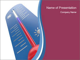 blue thermometer powerpoint template u0026 backgrounds id 0000017617