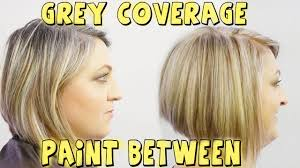 highlights to hide white hair grey coverage paint between to blond color correction youtube
