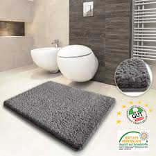 Bathroom Floor Rugs Bathroom Large Grey Wool Shag Bath Rugs For Alluring Bathroom