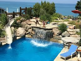 house with pools barefoot house lakefront pool house with tub and