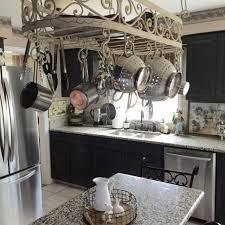 kitchen pan storage ideas amazing decoration cooking pan hanging rack kitchen overhead pot