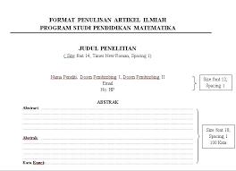 format artikel yang benar format penulisan jurnal yang benar pengumuman pendidikan matematika