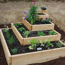 Diy Home Garden Ideas Four Level Raised Beds Vegetable Garden Design Diy Garden Beds
