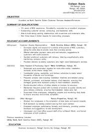 Resume Objective Call Center Sample Resume For Customer Service Job Resume Template And