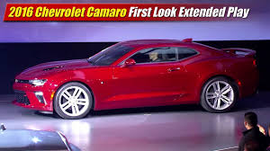 first chevy camaro 2016 chevrolet camaro first look extended play youtube