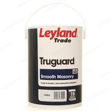 leyland trade truguard smooth masonry exterior paint 5l gardenia