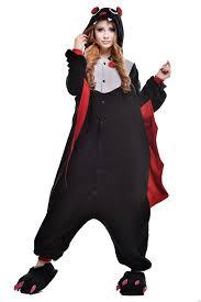 amazon com newcosplay halloween black bat unisex pyjamas onesie