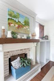 Living Room Fireplace Ideas - 26 best mantels images on pinterest blue green fall mantels and