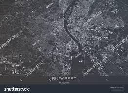 Satellite View Maps Budapest Map Satellite View City Hungary Stock Illustration