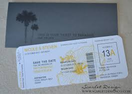 boarding pass save the date boarding pass save the date scarlet design