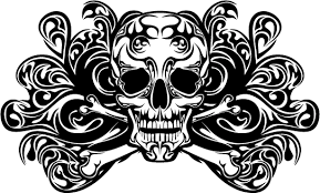 skull ornament vector material vector ornament vector
