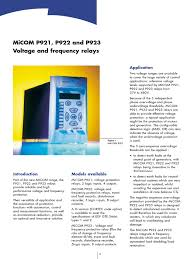 areva micom p 921 922 923 relay relay switch