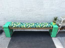cement block bench and bench cushions hometalk