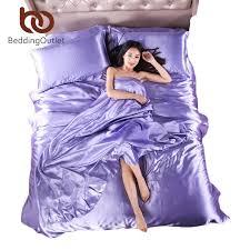 wholesale bedding set plaid on bed set bed linen silk satin sheets