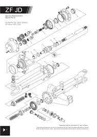 4wd zf axle suitable for john deere page 50 sparex parts lists