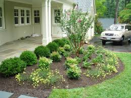 small front yard landscaping ideas with circular driveway and