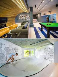 Ultimate Man Cave Architects Transform Basement Into Ultimate Man Cave For Teen