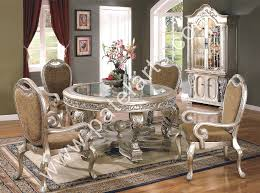 silver dining room sets with nifty attractive silver dining tables