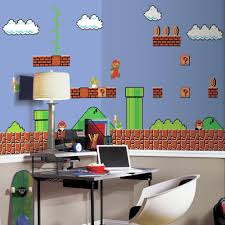 roommates 72 in w x 126 in h super mario retro xl chair rail 7 h super mario retro xl chair rail 7 panel prepasted wall mural jl1331m the home depot