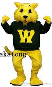 Halloween Mascot Costumes Cheap Yellow Wildcat Mascot Costume Halloween Christmas Party