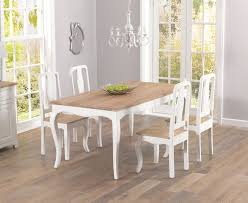 french antique ivory u0026 wood dining table with four chairs
