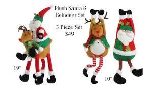 santa u0026 reindeer plush figures save 50 on raz imports