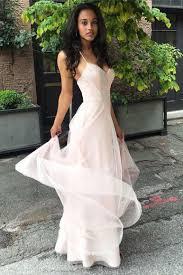 light pink halter dress v neckline spaghetti straps floor length chiffon long prom dresses