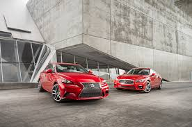 audi a4 vs lexus is350 2014 infiniti q50s vs lexus is350 f sport motor trend