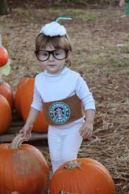 diy starbucks cup halloween costume for toddler super easy and no