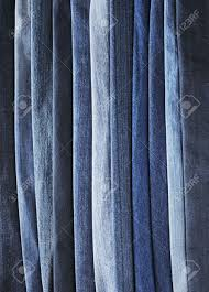 different shades of blue jeans denim fabrics stock photo picture