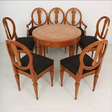 cherry dining room set louis xvi cherry dining table bench and chairs 1790s set of 6