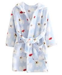 robe de chambre enfants deley unisexe bébé filles garçons à capuche peignoir robe de