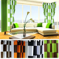 Orange Striped Curtains Great Orange And Green Curtains Inspiration With Orange Green Red
