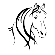 clipart of horse outline horse head outline horses stickers