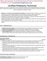 No Experience Phlebotomy Resume Phlebotomy Resume Objective Resume Cover Letter Samples For