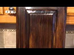 Wood Finishing Techniques Glazing by Antique Gel Stain Glaze Cabinets Grand Peninsula 75054 Youtube