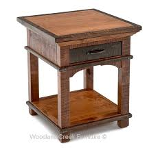 Rustic End Tables Rustic End Table Craftsman Nightstand Side Table