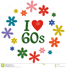 60 S Design Vector Illustration Isolated On White I Love The 60s Stock