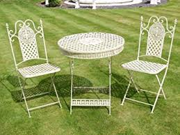 green metal outdoor table french ornate cream wrought iron metal garden table and chairs