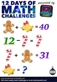 are you ready for 12 days of holiday math challenges math