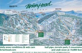 Ski Utah Map by Brian Head Resort Skimap Org