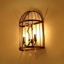Shabby Chic Wall Sconces Shabby Chic Rustic Clear Crystal 2 Light Candle Style Metal Bird